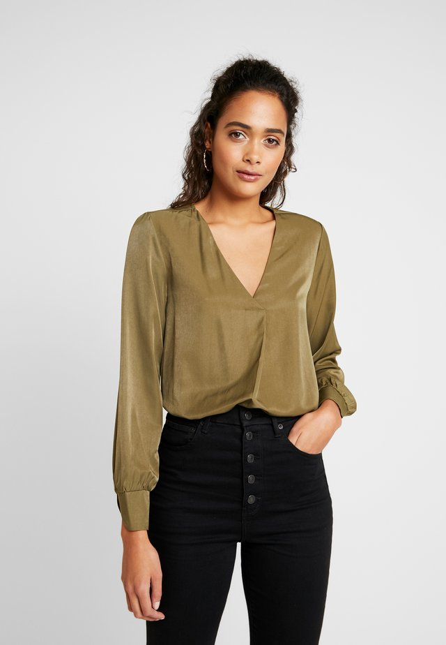 OBJEILEEN  - Bluse - burnt olive