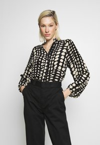 Object - OBJGIA - Blouse - black/off-white - 0