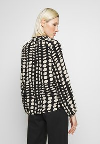 Object - OBJGIA - Blouse - black/off-white - 2