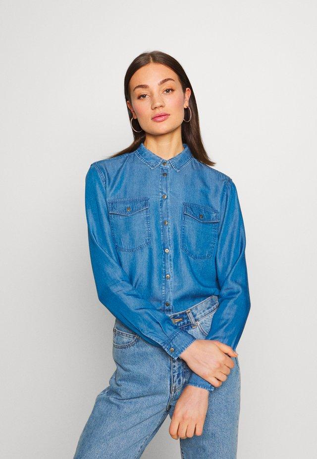 OBJLANIE SHIRT NOOS - Košile - medium blue denim