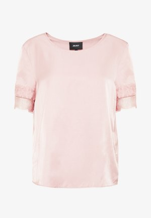 OBJEILEEN S/S  LACE TOP NOOS - Bluse - misty rose