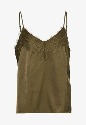 OBJEILEEN SINGLET SEASONAL - Top - burnt olive
