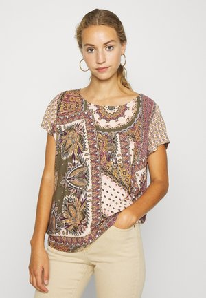 OBJSUN URBAN - Blouse - burnt olive