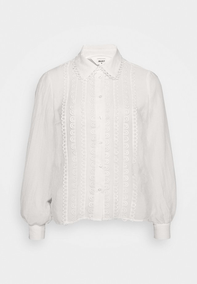 OBJNORA A FAIR - Button-down blouse - gardenia