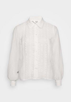 OBJNORA A FAIR - Button-down blouse - gardenia