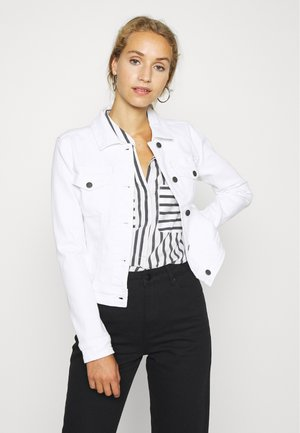 OBJWIN NEW JACKET - Jeansjakke - white