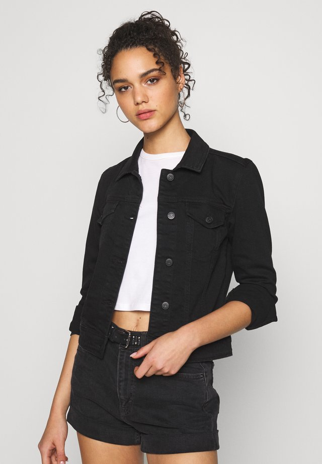 OBJWIN NEW JACKET - Džínová bunda - black denim