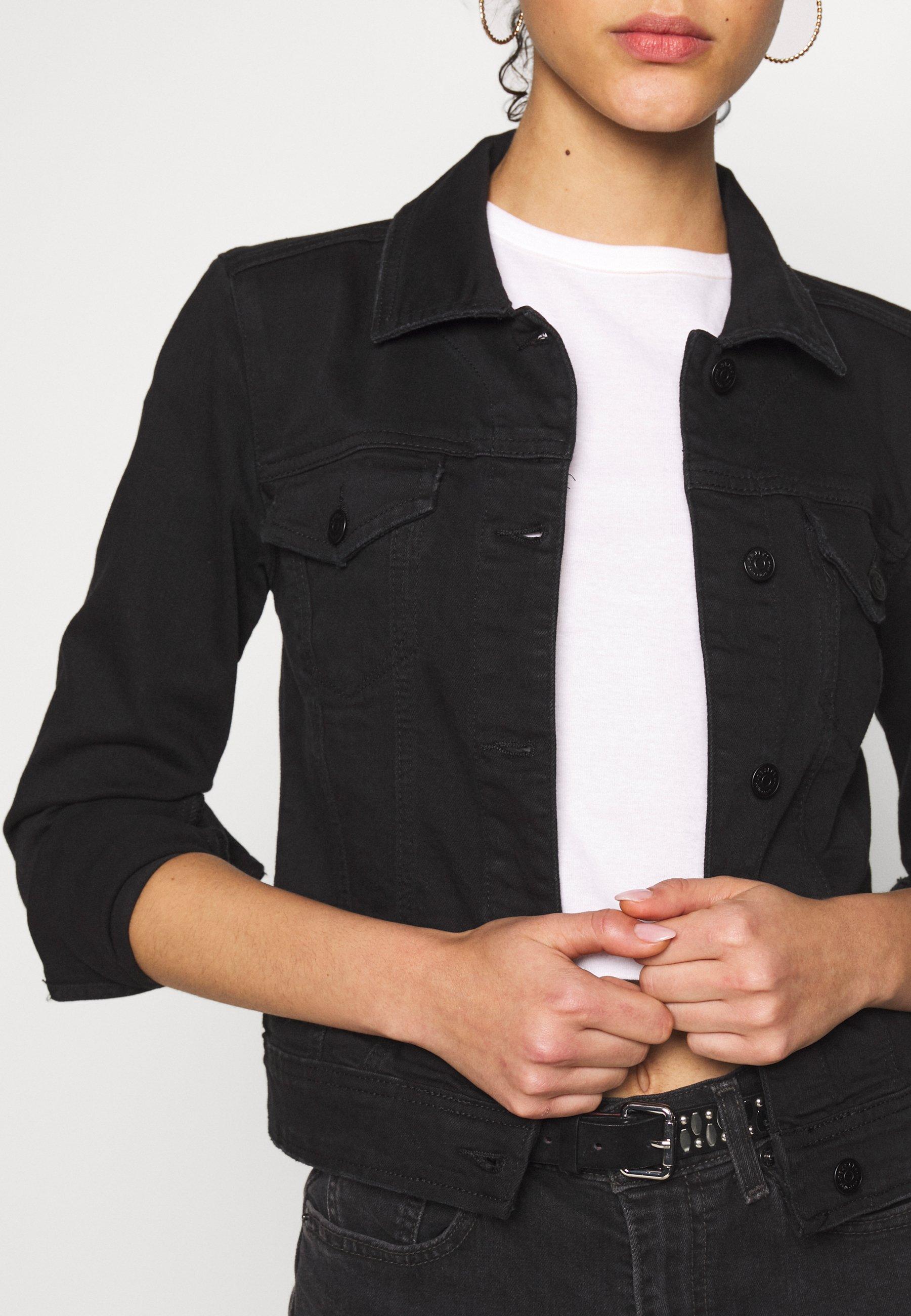 Object OBJWIN NEW JACKET - Denim jacket - black denim