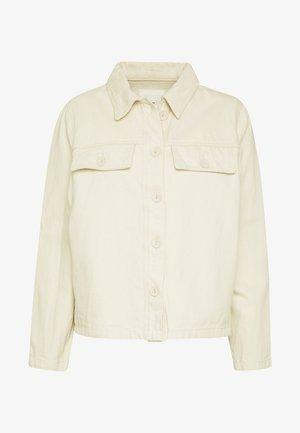 OBJESTELLE JACKET - Denim jacket - gardenia