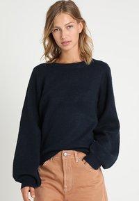 Object - Sweter - mottled dark blue - 0