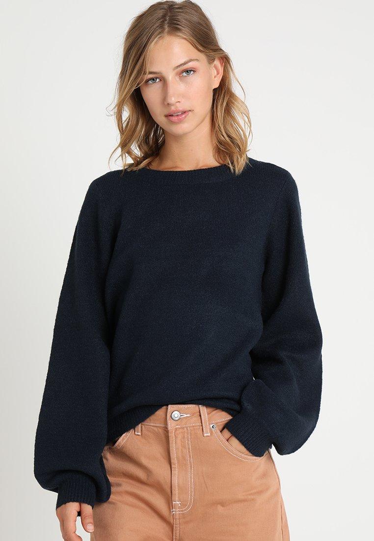 Object - Pullover - mottled dark blue