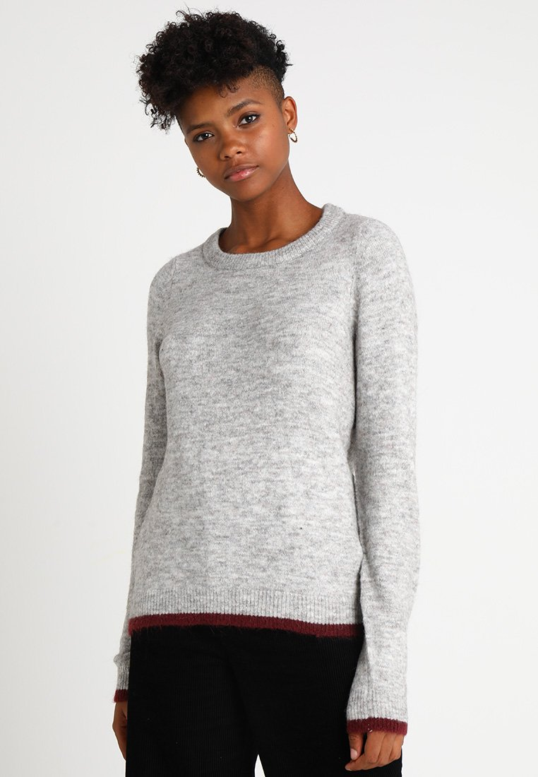 Object - Strikpullover /Striktrøjer - light grey melange