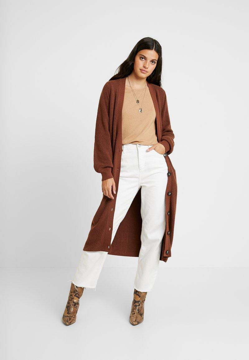 Object - OBJJANEY - Strikjakke /Cardigans - brown patina