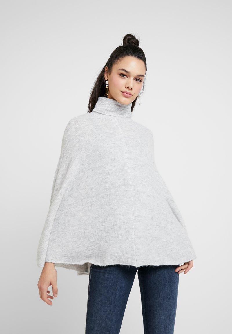 Object - Stickad tröja - light grey melange