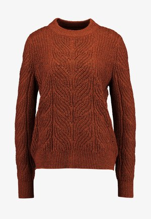 Jumper - brown patina melange