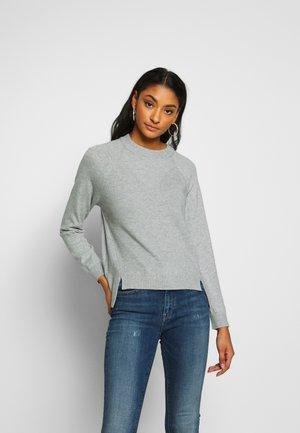 OBJBETTY - Sweter - light grey melange