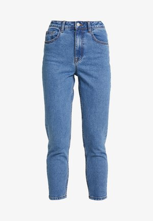 OBJVINNIE MOM - Relaxed fit jeans - medium blue denim