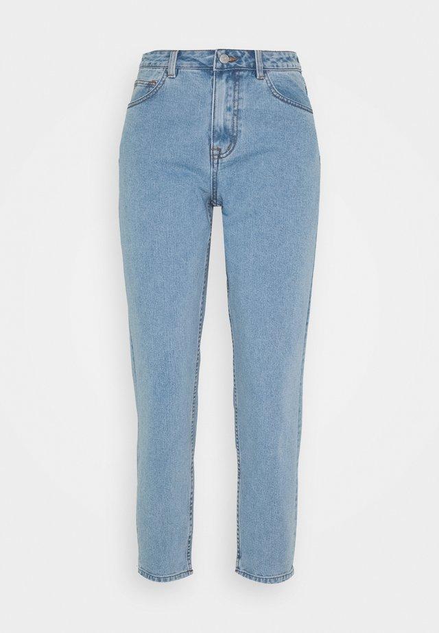 OBJVINNIE MOM - Relaxed fit jeans - light blue denim