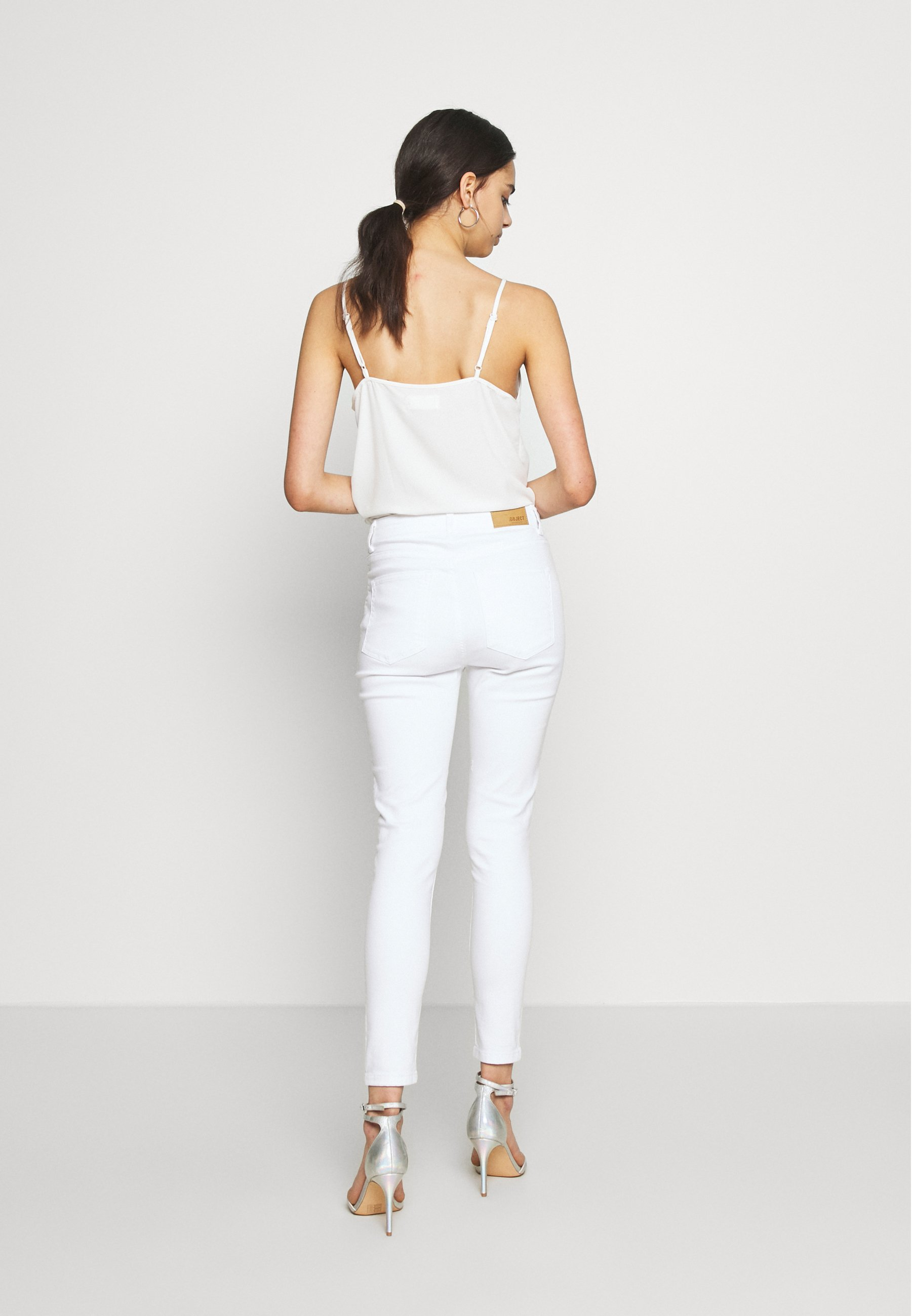 Object Jeansy Skinny Fit - white