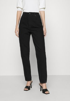 OBJCAROLINE - Jeansy Relaxed Fit - black