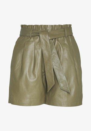 OBJSTAR - Pantaloni di pelle - burnt olive