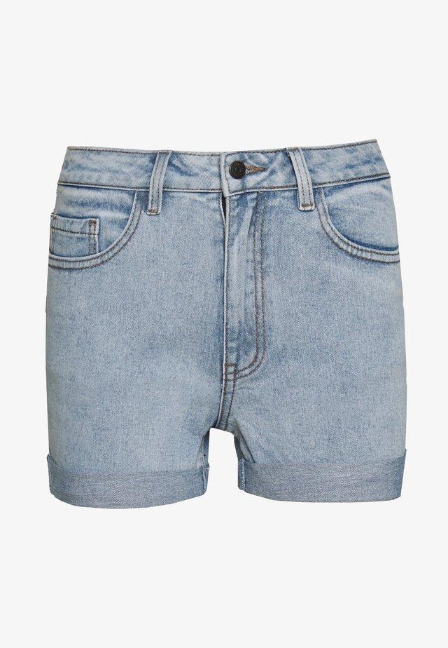 OBJANNA - Jeansshorts - light blue denim
