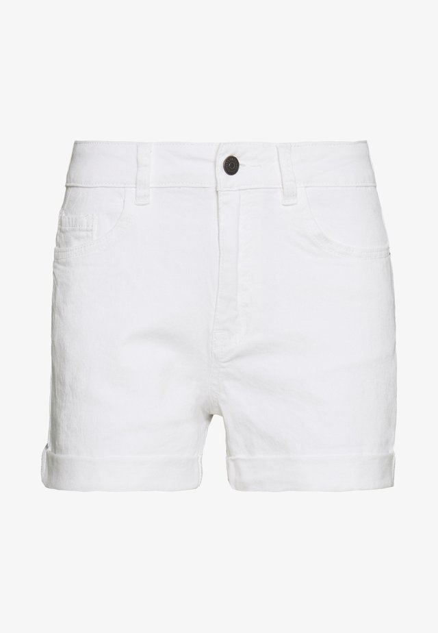 OBJANNA - Jeansshorts - white
