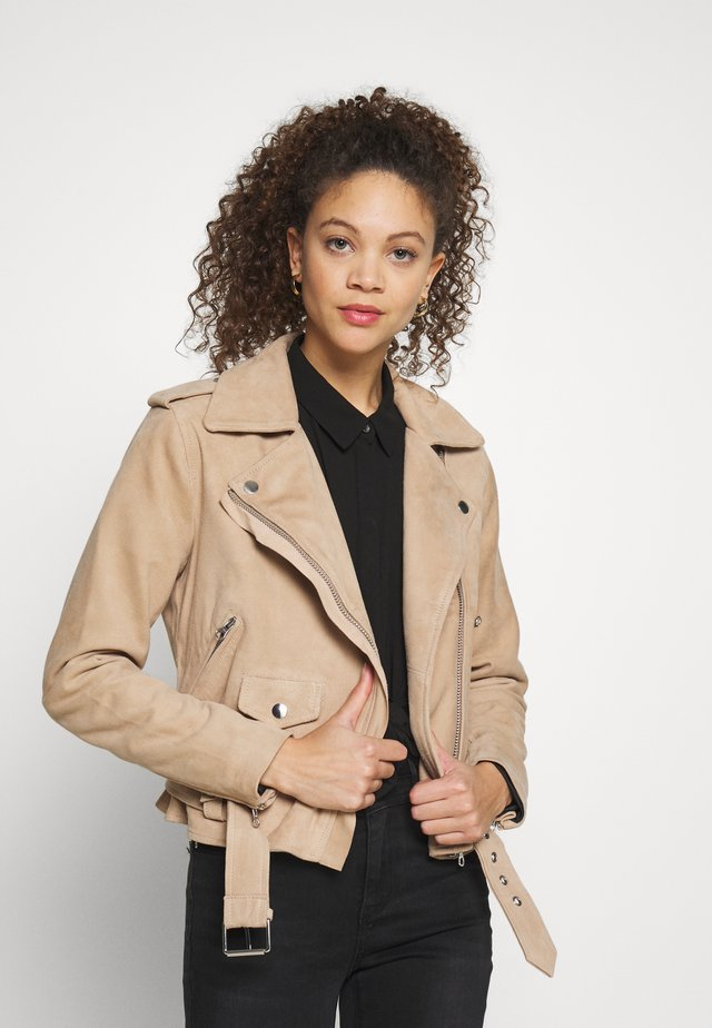 OBJNANDITA  SEASONAL - Leather jacket - incense