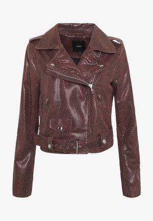 OBJTIFANNY JACKET - Leather jacket - tandori spice