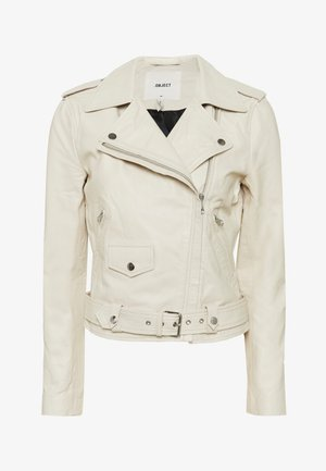 OBJNANDITA JACKET SEASONAL - Veste en cuir - white