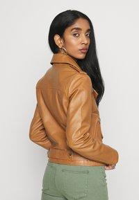 Object - OBJNANDITA JACKET SEASONAL - Leather jacket - sugar almond - 2