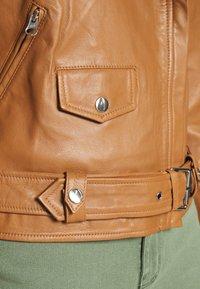 Object - OBJNANDITA JACKET SEASONAL - Leather jacket - sugar almond - 5