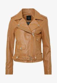 Object - OBJNANDITA JACKET SEASONAL - Leather jacket - sugar almond - 4