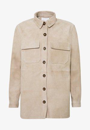 OBJROSA OWEN JACKET - Leather jacket - humus