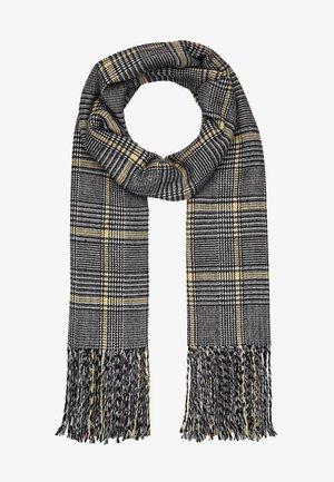 OBJMARILYN CHECK SCARF - Sjaal - black/yellow