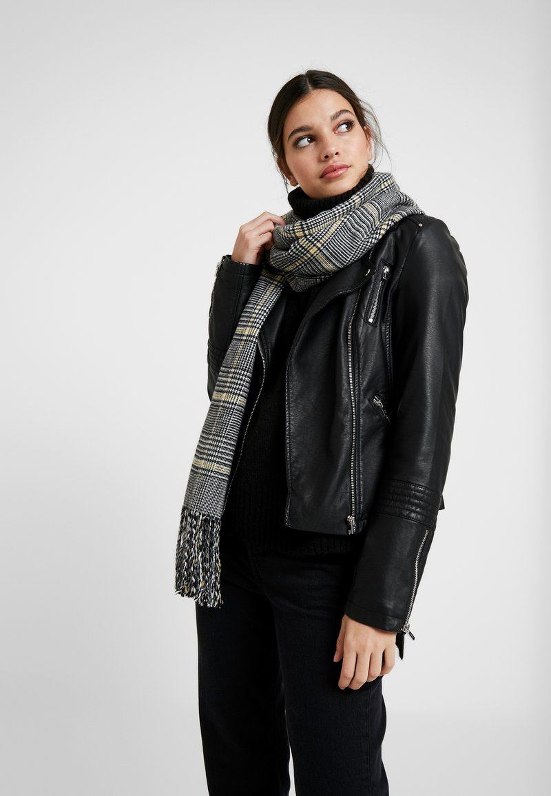 Object - OBJMARILYN CHECK SCARF - Sjaal - black/yellow