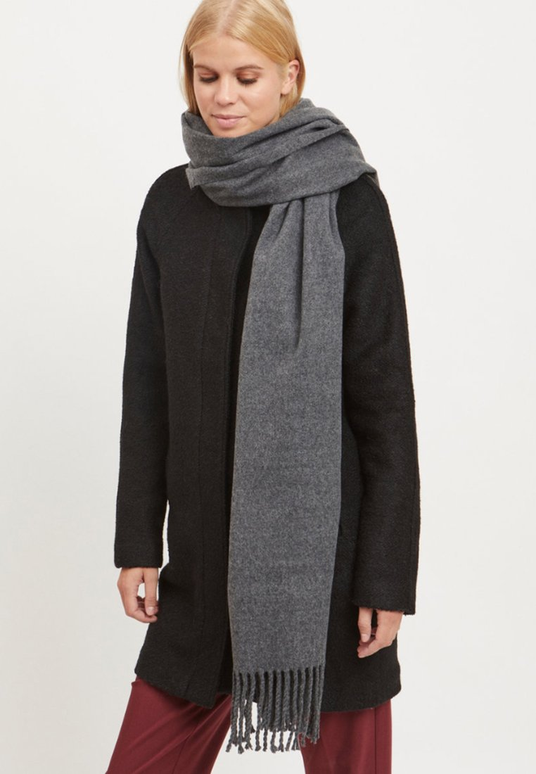 Object - SCHAL WOLL - Sjal / Tørklæder - dark grey