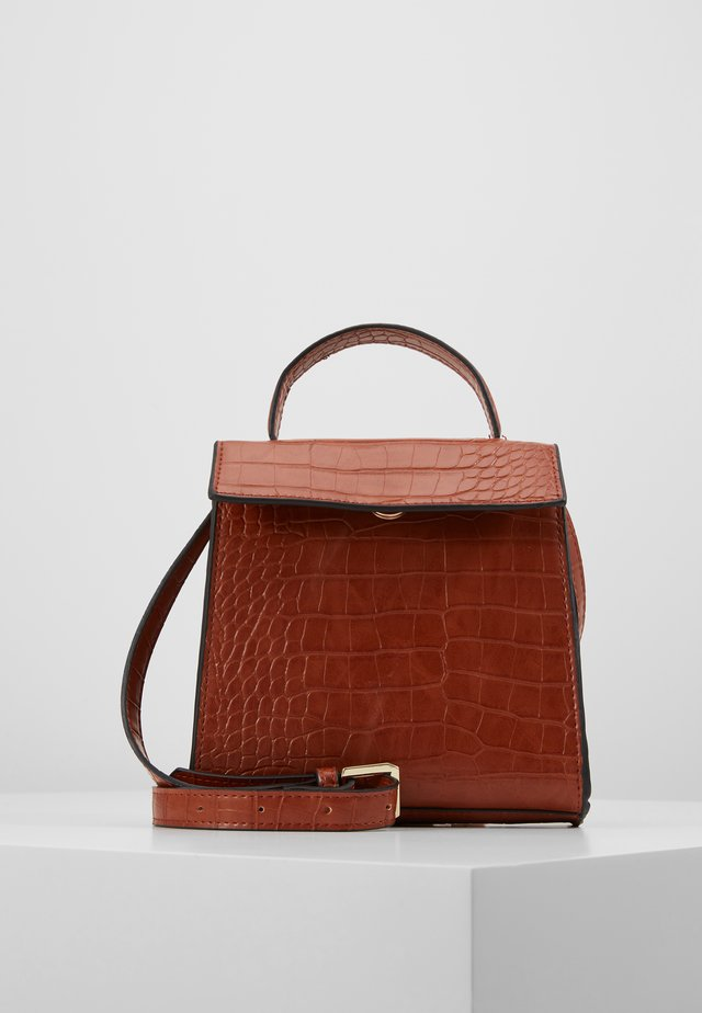 OBJTALULA CROSSOVER - Across body bag - amber brown