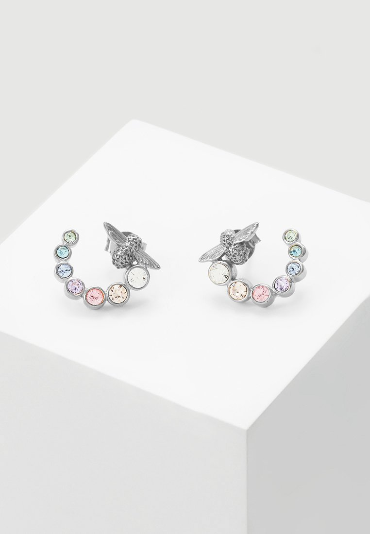 Olivia Burton - RAINBOW BEE - Earrings - silver-coloured