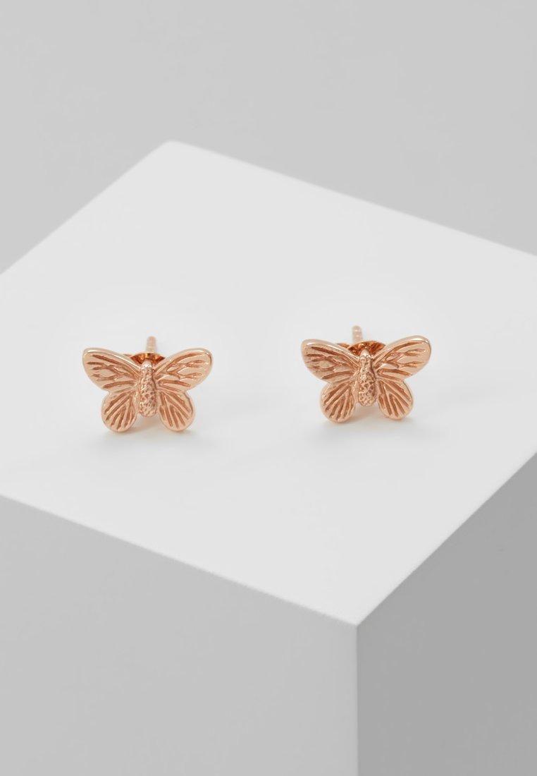 Olivia Burton - 3D BUTTERFLY - Boucles d'oreilles - roségold-coloured