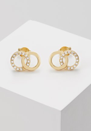 BEJEWELLED INTERLINK EARRINGS - Earrings - gold-coloured