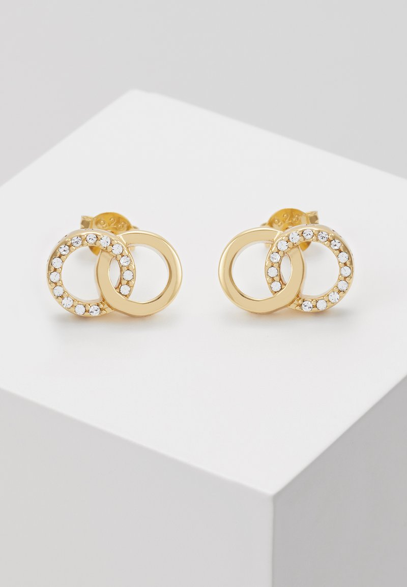 Olivia Burton - BEJEWELLED INTERLINK EARRINGS - Náušnice - gold-coloured