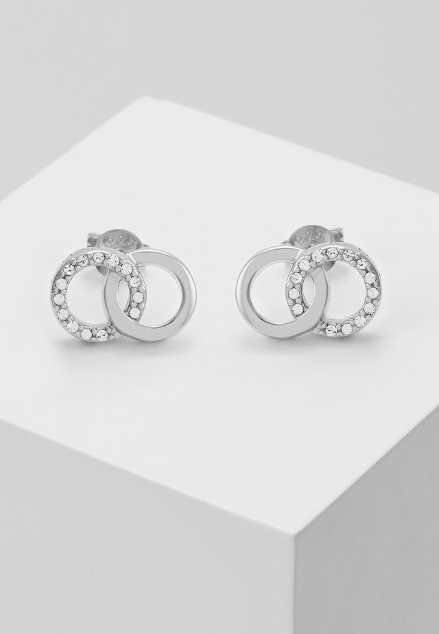 BEJEWELLED INTERLINK EARRINGS - Örhänge - silber