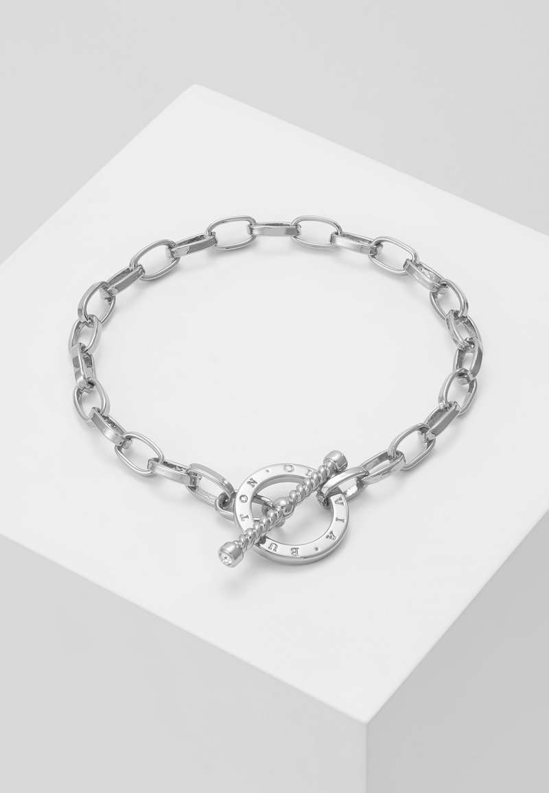 Olivia Burton - BEJEWELLED T-BAR BRACELET - Náramek - silver-coloured