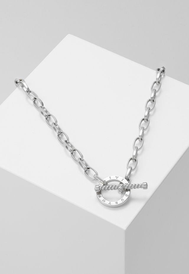 BEJEWELLED T-BAR NECKLACE - Halsband - silver-coloured