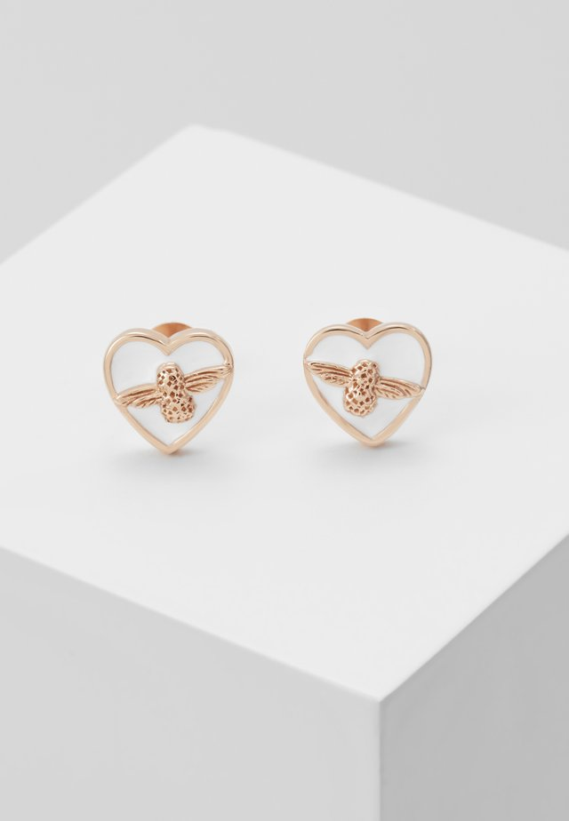 LOVE BUG STUDS - Kolczyki - roségold-coloured