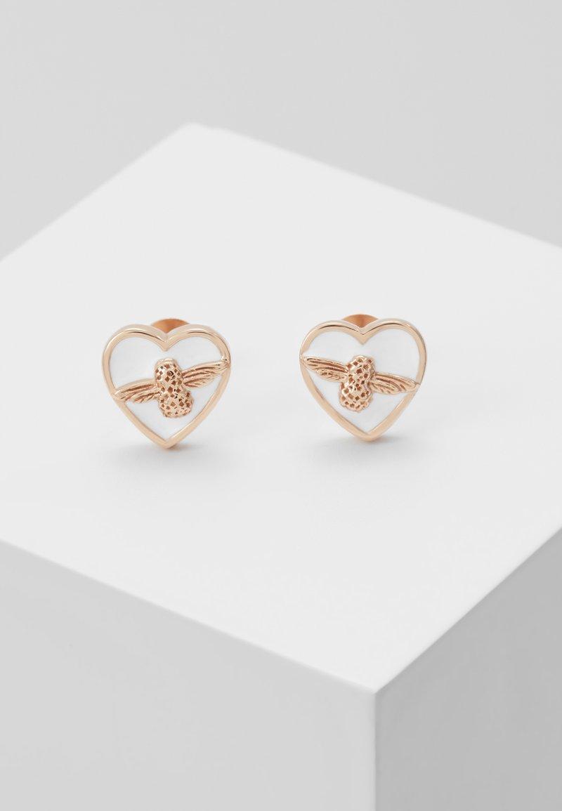 Olivia Burton - LOVE BUG STUDS - Earrings - roségold-coloured