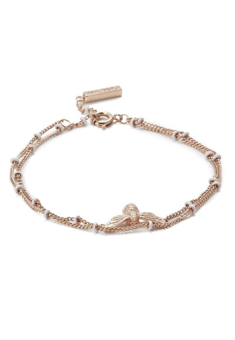 Olivia Burton - LUCKY BEE CHAIN BRACELET - Náramek - rose gold-coloured