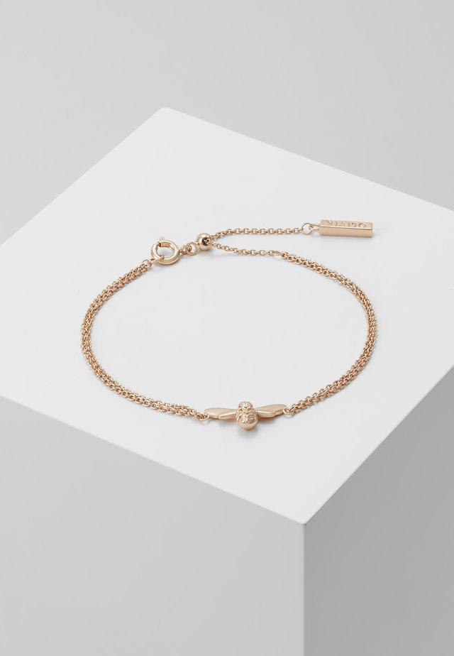 LUCKY BEE CHAIN BRACELET - Armband - rose gold-coloured