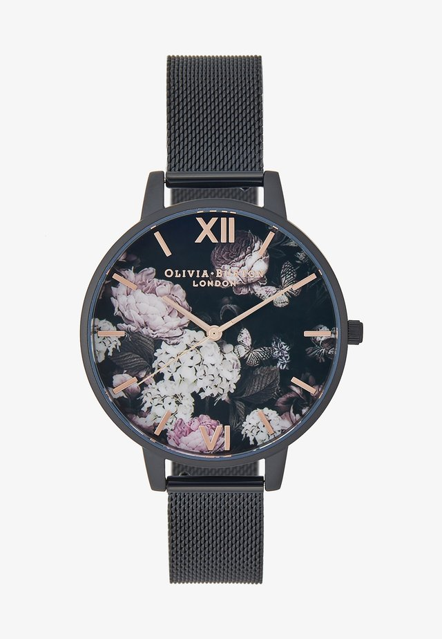 SIGNATURE FLORALS - Horloge - schwarz